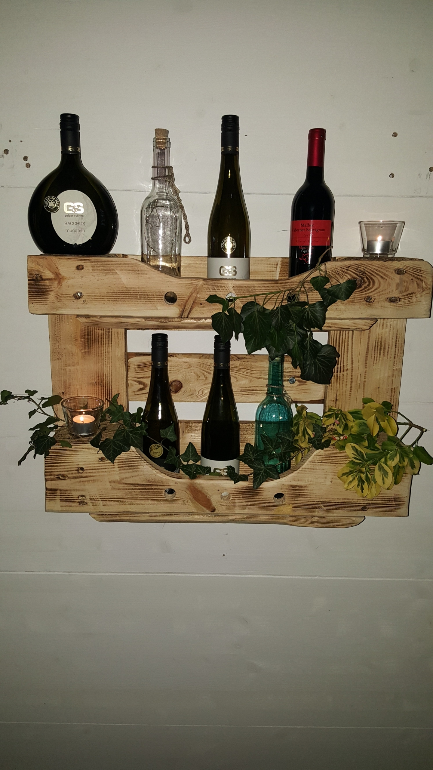 Weinregal Bottle aus Europalette